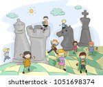 fantasy illustration of... | Shutterstock .eps vector #1051698374