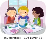 illustration of stickman kids... | Shutterstock .eps vector #1051698476