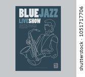 blue jazz poster   Shutterstock .eps vector #1051717706