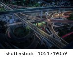 aerial photo of the highway... | Shutterstock . vector #1051719059