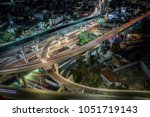 aerial photo of the highway... | Shutterstock . vector #1051719143