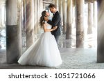 dream like portrait of newlywed ... | Shutterstock . vector #1051721066