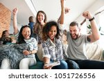 group of diverse friends... | Shutterstock . vector #1051726556