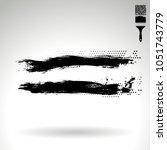black brush stroke and texture. ...   Shutterstock .eps vector #1051743779