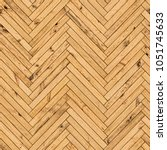 natural parquet seamless floor... | Shutterstock . vector #1051745633