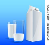 glass of milk with a big blank... | Shutterstock .eps vector #105174908