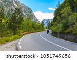 view of the mountain road ... | Shutterstock . vector #1051749656
