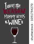 baby t shirt hand lettering ... | Shutterstock .eps vector #1051754270