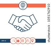 handshake line icon | Shutterstock .eps vector #1051762910