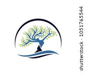 tree with body women logo... | Shutterstock .eps vector #1051765544
