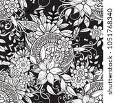 floral seamless pattern in... | Shutterstock .eps vector #1051768340