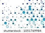 light blue vector pattern with... | Shutterstock .eps vector #1051769984