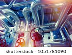 equipment  cables and piping as ... | Shutterstock . vector #1051781090