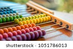 educational colorful abacus   Shutterstock . vector #1051786013