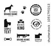 set of vector dog logo and... | Shutterstock .eps vector #1051795313