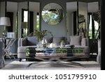 my design cozy interior living... | Shutterstock . vector #1051795910