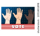 Three Hands Voting.hand Palms...
