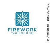 firework logo design | Shutterstock .eps vector #1051807439