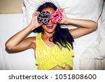 bright positive portrait of... | Shutterstock . vector #1051808600