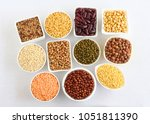 lentils and legumes  different...   Shutterstock . vector #1051811390