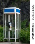 Old Fashioned Phone Booth With...