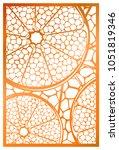 vector laser cut panel.... | Shutterstock .eps vector #1051819346