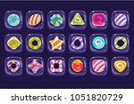 vector set of colorful candies...