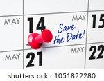 wall calendar with a red pin  ... | Shutterstock . vector #1051822280