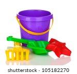 Children's Beach Toys Isolated...