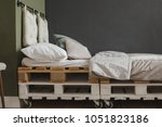 side view of wooden palettes... | Shutterstock . vector #1051823186