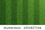 Detailed green soccer field grass lawn texture from above (3D Rendering)