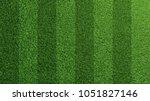 detailed green soccer field... | Shutterstock . vector #1051827146