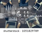business information and... | Shutterstock . vector #1051829789