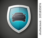 protect car guard shield.... | Shutterstock .eps vector #1051835876