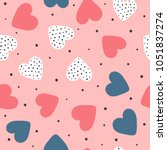 cute seamless pattern with...   Shutterstock .eps vector #1051837274
