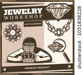 vintage jewelry shop template... | Shutterstock .eps vector #1051838228