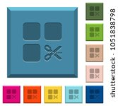 cut component engraved icons on ... | Shutterstock .eps vector #1051838798