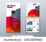 bi fold brochure design.... | Shutterstock .eps vector #1051839860