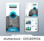 bi fold brochure flyer design....   Shutterstock .eps vector #1051839926