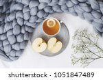 grey merino wool plaid or... | Shutterstock . vector #1051847489