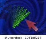art work of business idea with... | Shutterstock . vector #105185219