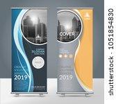 business roll up design... | Shutterstock .eps vector #1051854830