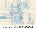 hand drawn abstract background. ...   Shutterstock .eps vector #1051854869
