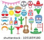 many fiesta monogram designs. | Shutterstock .eps vector #1051859180