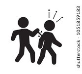 backstabbing  stabbing betrayal ... | Shutterstock .eps vector #1051859183