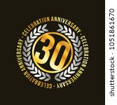 30 years of celebrations vector ... | Shutterstock .eps vector #1051861670