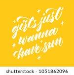 girls just wanna have sun  ...   Shutterstock .eps vector #1051862096
