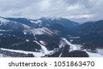 ski resort jasna slovakia... | Shutterstock . vector #1051863470