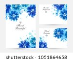 romantic background with blue... | Shutterstock .eps vector #1051864658