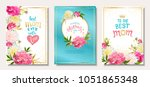 happy mother's day. set of...   Shutterstock .eps vector #1051865348